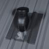 Alapcserép + Szellőző cső FÉMTETŐKRE  (d=125mm)