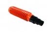 Gégecső + bilincs 110mm narancs LÁGY PVC